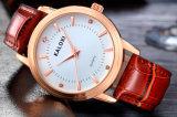 Or de montre-bracelet de dames de mode de Caloxi et couleurs de solides solubles sélectionnables