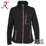 Softshell 재킷 여자는 방수 처리한다 옥외 의복 (QF-431)를