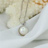 シンプルな設計の卸売価格の白い真珠のペンダント