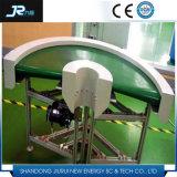 Transporte de correia profissional do PVC com o defletor para o alimento industrial