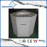 Gabinete branco da vaidade do canto do banheiro da cor (ACF6060)