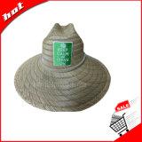 Rush sombrero de paja, sombrero de paja hueco, sombrero de sol, Big Brim Hat