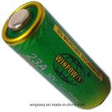 0%の水星の金属の皮23A 12Vのアルカリ電池