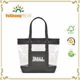 Zipper Closure를 가진 중국 Manufacturer Custom Cyan Beach PVC Clear Tote Bag