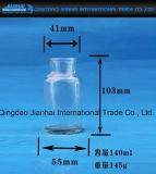 Breit-Mouthed Glasglas für Nahrungsmittelspeicher mit Korken-Schutzkappe