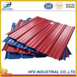 PPGI Hoja de cubierta acanalada para la casa de acero