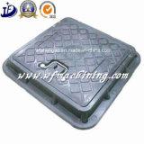 Крышки люка -лаза отливки песка чугуна OEM с рамкой (плавильня)