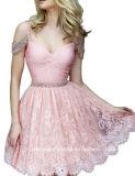 Платье W001 выпускного вечера мантий вечера шнурка lhbim женщин Backless отбортовывая