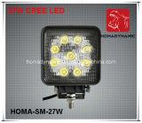 5 lumière pilotante DEL de la lumière DEL de travail de pouce 27W DEL tous terrains pour le SUV