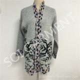 Capa británica del suéter de la red del estilo de las señoras al por mayor (SOI1781)