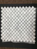 Azulejo de mosaico de mármol blanco de la escala de pescados de Italia Bianco Carrera mini