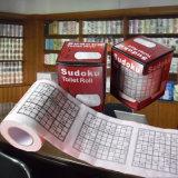Sudoku a estampé l'essuie-main personnalisé par papier de toilette de tissu de salle de bains