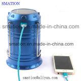 Lanterna di campeggio solare della torcia elettrica della torcia della batteria ricaricabile LED del USB della ricarica