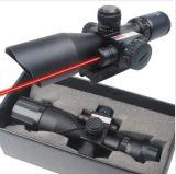 Mil-PUNTINO tattico di Red&Green di portata del fucile 2.5-10X40 illuminato con il supporto rosso del laser
