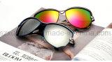 Marco grande de moda UV400 que conduce el metal para las gafas de sol