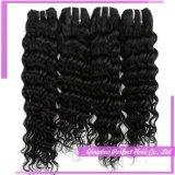 ベストセラーの卸売価格の自然なIndainの深い波の毛の織り方