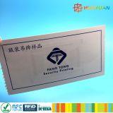 Tarjeta de papel ultraligera de MIFARE EV1 RFID para el solo E-Boleto del viaje
