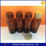 20ml de amberFlessen van het Glas van de Stroop met het Duidelijke Aluminium GLB van de Stamper