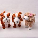 Juguete de la felpa del perro de perrito de pie Labrador suave del juguete del animal relleno mimoso