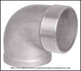 投資鋳造のステンレス鋼は付属品90の程度の肘をねじで締めた
