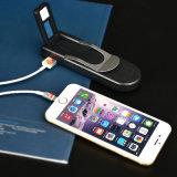 Batería recargable portable 3000mAh de la potencia con el alumbrador plegable del LED