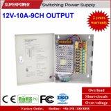 12V 10A 9CH Ausgabe CCTV-Kamera-Schaltungs-Stromversorgung
