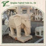 Elefante del calcare intagliato mano che intaglia le statue Stonemasonry della scultura della pietra blu