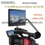 """7 """" 4k de op-cameraMonitor van HDMI met het Volledige Ontwerp van het Aluminium HD 1920X1200"""