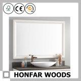 Frame van de Spiegel van de Rechthoek van de Decoratie van de herberg het Moderne Witte Houten