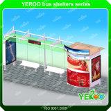Design d'abris d'autobus publicitaire rectangulaire populaire en acier rectangulaire