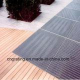 Passaggio pedonale stridente d'acciaio per il pavimento di ventilazione