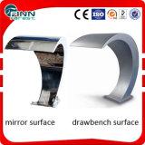 Cortina de agua de acero superficial Polished y varia