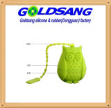 Stainer силикона формы сыча зеленого цвета