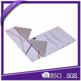 Rectángulo de regalo de papel plegable de la insignia de encargo de lujo que empaqueta para el perfume