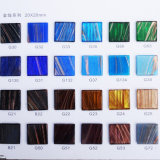 Azulejo de mosaico de cristal azul