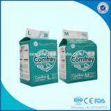 Pañal adulto suave importado marca de fábrica Kenia de Abdl de la pulpa de la pelusa del OEM de la fábrica de Fujian