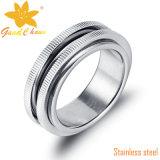 Exsr62A Form-Silber-Verlobungsringe mit Stellux Steinen