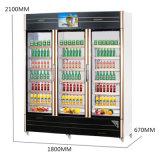 大量の3つの開始ガラスドアのショッピング冷却装置サイズ