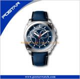 Relógio de pulso azul da meia-noite do movimento de quartzo de Japão dos homens do esporte do seletor da cor