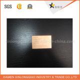Überzogene Packpapier-Visitenkarten China Soem-kundenspezifisches Gold
