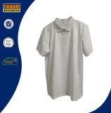 Chemises 100% de polo blanches de plaine en vrac de vente en gros de qualité de coton pour les hommes