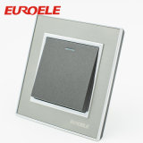 Interruptor de acrílico de la pared de la cuadrilla del modelo 3 del color gris