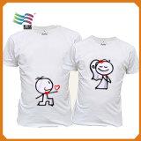 T-shirts drôles de Mens personnalisés par modèle de cadeau de promotion