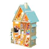 El más reciente casa de muñeca de juguete de madera para niños