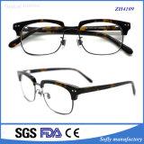 Acetato popolare degli occhiali della montatura per occhiali del metallo di disegno ottico