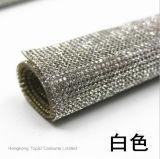 Roulis en cristal de garniture de maille de Rhinestone de Rhinestone de Hotfix de difficulté chaude adhésive de feuilles (TM-ss6)