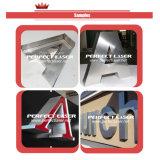 Le logo métallique en aluminium signe une machine à cintrer des lettres à canal CNC