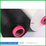 Rohes Scy 2075/3075/4075 das weiße/schwarze China-Polyester deckte Spandex-Garn ab
