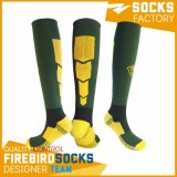 Kundenspezifische Qualitäts-Baumwollmann-Fußball-Socken