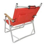 Einfaches leichtes Fischen-im Freien kampierendes Polyester 600d, das beweglichen Stuhl faltet (mit hölzerner Armlehne)